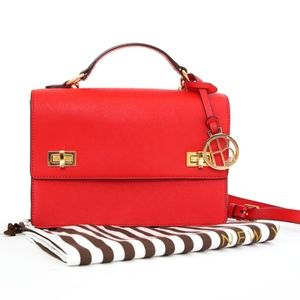 Henri Bendel West 57th Schoolbag Red $278 Retail.